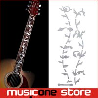Wholesale Electric Acoustic Abalone - Guitar Fret Inlay Stickers Tree Of Life Fretboard Decals   Marker For Acoustic Electric Guitarra Fret Neck New Colourful Abalone MU1288-5