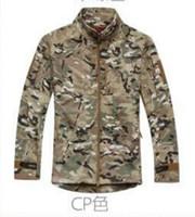 Wholesale Commander Military - Men's TAD collar Commander Outdoor Shark skin Soft Shell Jacket Tacitcal Jacket Military Jackets