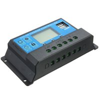 Wholesale 24v 12 Regulator - New 20A LCD Dual USB Solar Charge Controller output 5V Charger 12 24V Solar Panel Battery Charge Regulator 2pcs lot FreeShipping