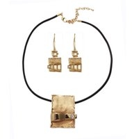 Wholesale Outdoor Rattan Furniture China - 2015 Direct Selling Limited Black Silver Gift Rattan Outdoor Furniture Garden Popular Pendant Jewelry Set Punk Antique Explosion Models Suit