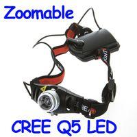 far aa toptan satış-Büyük indirim! Ultra Parlak 500 Lümen CREE Q5 LED Far Far Zumlanabilir Başkanı Işık Lambası, Toptan