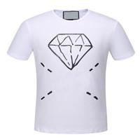 comprar pantalones cortos de moda al por mayor-Value Buy Italia Men Diamond Camiseta estampada Summer Fashion O-cuello de manga corta Polo Camisetas para hombre Casual Top Tees 3XL