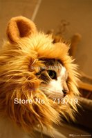 Wholesale Lion s Mane Cat Hat cat s toy like lion mane hat Stuffed Plush Toy Lion s Mane Hat for Cats