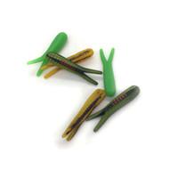 señuelos grub worm al por mayor-Señuelo de la pesca 4 cm Grub Bait Soft Lure Soft Worms Bait Tackle de pesca para el mar de agua dulce cebo para peces