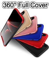 Wholesale Armor Bodies - For iphone7 iPhone X 360 Degree Full Body Cover Protection Case 6 7 8 Samsung S8 S9 Plus S7 edge Note Hybrid Armor Cover