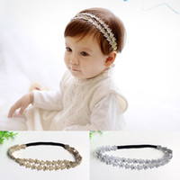 Wholesale Korean Girl Band Fashion - Childrens Accessories Korean Headbands For Girls 2016 Flower Headband Baby Hair Accessories Head Bands Infants Fashion Hair Things C19295