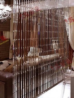 Wholesale Decorative Window Beads - Wholesale-2 meters  lot crystal glass beads door window curtain decorative partition curtain
