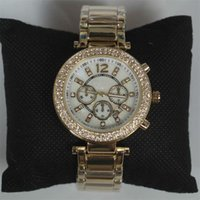relógio de ouro rosa masculino venda por atacado-Conch Dial Masculino Senhora Relógios Top Marca de Luxo Senhoras Da Moda Assista Mulheres Rhinestone Relógios de Ouro Rosa Feminino Relógio De Quartzo