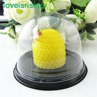 Wholesale House Box Cake - Hot Sale--200pcs=100sets Clear Plastic Cupcake Cake Dome Favor Boxes Container Wedding Party Decor Gift Boxes Wedding Favors Boxes Supplies