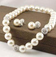 Wholesale Wonderful Earrings - wonderful crystal pearl set necklace earings (ming320) ryrtet