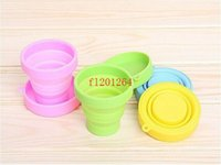 outdoor drawers - 500pcs Travel Outdoor Trip Silicone folding cup Telescopic cup silicone Storage cup R01