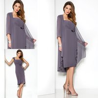 Wholesale Simple Formal Ankle Length Dress - 2015 New Mother of the Bride Groom Formal Gown Evening Dresses With V Neck Long Sleeve Jacket Sheath Lace Hunter Ankle Length L11