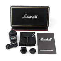 Wholesale Metal Speaker Covers - Marshall Stockwell Portable Bluetooth Speaker With Flip Cover Case Super Bass Subwoofers Rocker New Black Speakers With Retail Package