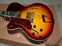 Wholesale Honey Burst Jazz Guitar - Honey Burst L-5 Classic Left Handed Jazz Guitar Gold Hardware OEM Guitars Best Selling