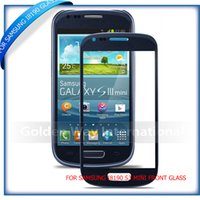 Wholesale Galaxy S3 Copy - Wholesale-2pcs Free shipping HQ Copy White   black  blue color for Samsung Galaxy S3 mini GT I8190 Outer Front Glass Lens screen