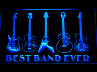 Wholesale Dropship Best - 324 Best Band Ever Guitar Weapon Bar Beer LED Neon Light Sign Wholeseller Dropship Free Shipping 7 colors to choose