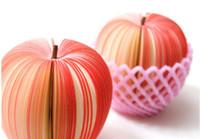 fruchtnoten großhandel-Fruit shaped notizblock Red Apple grün birne Fruit Note Paper / Memo Pad Aufklebernotizblöcke