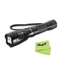 Wholesale Order Hid Lights - Ultrafire CREE XM-L T6 2000LM LED Flashlight Torch 5-Mode Adjustable Torch Flash light Zoomable Linternas Aluminum 0.55-SD032H order<$15 no