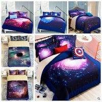 Wholesale Children Bedding Sets Wholesale - 9 Styles 3D Galaxy Printed Child Christmas Bedding Sets Europe Type Style Duvet Covers for King Size Bedding Duvet Cover Gift CCA7977 10set