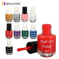 Wholesale Gray Oil Art - Wholesale- 5ml Professional Nail Art Stamp Polish DIY Painted Nail Polish 26 Color Optional Uv Gel Nail Polish Fingernails Permanent Oil