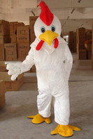 Wholesale Chicken Costume White - 2018 Factory direct sale Adult Size White Chicken mascot Costume WholeSale price Cock mascot