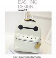 Wholesale Korean Style Drop Shipping - Drop shipping Shoulder bag handbags women fashion bags 2015 new hot Korean version Big Hero 6 Baymax Casual Backpack Bag PU wholesale