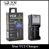 Wholesale Battery Charger Lcd Display - Original Xtar VC2 Battery Charger Inteligent Mod Charger Dual Slot with LCD Display for 18350 18550 18650 16650 Li-ion Batteries Ni-MH batt