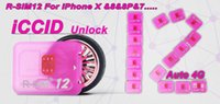 Wholesale R SIM12 for iphone X perfect unlocking card RSIM RSIM12 automatic ICCID unlock for iPhone puls plus iOS11 ios7 x G G