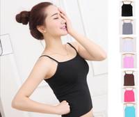 Wholesale Cami Mini - hot Selling Women Girls Ladies Short Racerback Tank Tops Cami Mini Sleeveless Vest Waistcoat T-Shirt A101