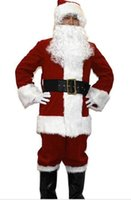Wholesale christmas outfits for adults for sale - Group buy Adult Size Santa Clause Costume for Christmas Party Buy Mascots Online Custom Mascot Costumes People Mascot Outfits Sports Mascot for Team