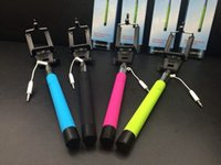 Wholesale Take Play Wholesale - Audio cable wired Selfie Stick Extendable Handheld Monopod plug and play Cable Take Pole Wired for iPhone  Samsung