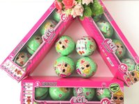 Wholesale Fashion Gift Boxes Cake - 4pcs  Set Random Color Lol Surprise Doll Series 2 Doll Baby Cake Toy Surprise Eggs Removed With Box Baby Kids Toy Gifts