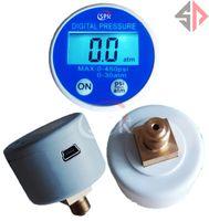 Wholesale usb gauges for sale - Group buy Freeshipping V Battery Powered Pressure Gauge Manometer psi G1 RS232 USB