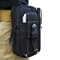 Tactical Waist Belt Pouch Molle Holster Army Camo Bag Outdoor Camuflaje Funda de nylon para iPhone 6 7 8 X Mens Wallet Bag