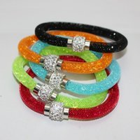 Wholesale cheap crystal buckles - New Bracelet Bohemian Women Crystal Wrap Cheap Bracelet Wristband Rhinestone shangrila Magnetic buckle bracelets bangles Free Shipping