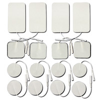 Wholesale Large Electrodes - Replacement Electrode Gel Pads and for Flextone Pads. Small & Large Size Combo 16-Pack, adhesive electrodes for TENS   EMS   electrotherapy