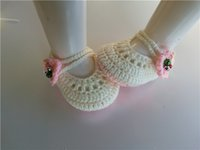 Wholesale Wholesale Exclusive Shoes - 2016 Factory directly Baby Shoes Infants Crochet Knit shoes Socks infant Newborn exclusive Handmade Toddlers shoes 0-12M customize