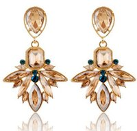 Boucles d'oreilles pour Femme Déclaration Bijoux Fashion Brand Design Nouvelle Coréenne Bohemian Earring Gemstone Diamant Swarovski Drop Crystal Earrings