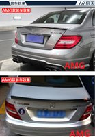 Wholesale stock Fit for Mercedes Benz C W204C180C200C260C300 c63AMG carbon fiber rear spoiler