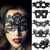 Wholesale Women Sexy Lovely - 2017 Sexy Lovely Lace Halloween masquerade masks Party Masks Venetian Party Half Face Mask For Christmas MJ1
