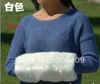 aquecedores de braço de natal venda por atacado-Atacado-branco Faux Fur Arm Warmers mão mais quente muff mãos gaiola quente travesseiro presentes de Natal 36 * 18cm