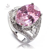 Wholesale First Class Sets - Recommend Fashion Classic pink Cubic Zirconia Silver Plated RING R546 size# 6 7 8 First class products Promotion Favourite