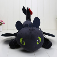 Wholesale toothless plush stuffed animal - 55cm Night Fury Plush Toy How To Train Your Dragon 2 Toothless Dragon Stuffed Animal Dolls