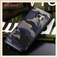 teléfono celular antichoque al por mayor-Caja del teléfono del camuflaje anti-shock PC + TPU carcasa protectora del teléfono celular con el color del camo del ejército en el bolso del opp para iphone5 / 6 / 6s, sumsung s6 / note4 / 5