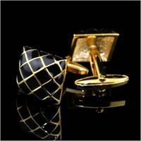 Wholesale Cufflink Blanks Square - Cufflink Blank Glue Plated Square Cufflinks Luxury Cuff Links High Quality cf156717