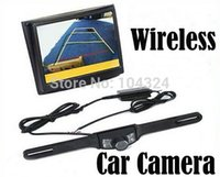 "Wholesale Reverse Camera Wireless System - free shipping 3.5"" Wireless LCD Car Monitor Car Rear View Camera Security Parking Reversing Camera System"