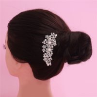 Wholesale Wholesale Bridal Stores - Hot Hair Accessories For Women Girls 50 Pce Per Lot Hairstyles With Alloy Pearls 2016 Fashion Wholesale Bridal Jewelry Stores 12 * 6cm