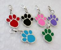Wholesale Wholesale Small Metal Pendants - zinc alloy Paw prints pendant diy pendant charms Pet Tag