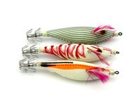 Wholesale squid jigging lures online - HENGJIA Fishing Artificial Squid Jigs Octopus Cuttlefish Shrimp Lures Fishing Lures Round belly wood shrimp