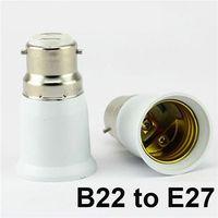 Wholesale E22 Led - LED Bulb Base Adapter Socket Converter E22 to E27 E26 to E14 E26 to E27 B22 to E26 Converter Plug Extend for LED Halogen CFL Light